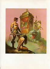 "1978 Full Color Plate ""Tarnsman of Gor"" by Boris Vallejo Fantastic GGA"