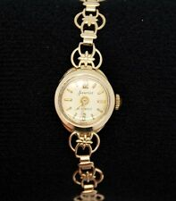 Vintage 9ct Yellow Gold Accurist Ladies 21 Jewel Mechanical Watch UK Hallmarks