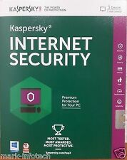Kaspersky Internet Security 2016 - 1 User 1 Year Antivirus + Bill