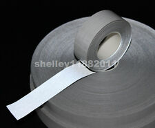 """Self-adhesive Silver Reflective Fabric TC Material Tape Width 1"""" (25mm) x 10m"""