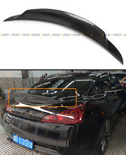 CARBON FIBER DUCK BILL REAR TRUNK SPOILER FIT FOR 2008-2015 G37 Q60 2 DOOR COUPE