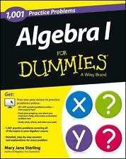 Algebra I: 1,001 Practice Problems For Dummies (+ Free Online Practice) by