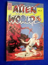 Alien Worlds 5: Sci fi comic.Pacific 1983, colour.   John Bolton.