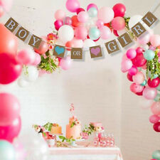 """Boy Or Girl"" Baby Shower Party Hanging Garland Gender Reveal Bunting Banner"