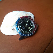 Vintage Ollech and Wajs Early Bird Divers Watch w/Vibrant Bezel,Warm Patina