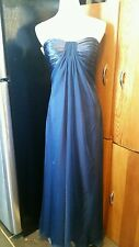 Sparkle formal dress size 10 navy blue full length strapless