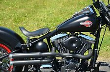 Black Santee Double Barrel Chopper High Exhaust Pipes 2012- 2016 Harley Softail