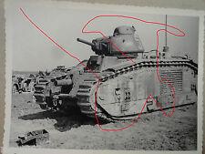 original  Foto frz. Panzer GARO   Panzerschlacht  Flavion