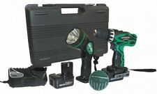 HITACHI DS12DVF3 12V 3/8 inch Cordless 12 Volt Driver Drill Kit with Flashlight