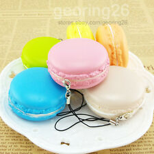 New Kawaii Soft Dessert Macaron Squishy Cute Cell phone Charms Key Straps PA35
