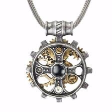 ALCHEMY FOUNDRYMAN'S RING CROSS  STEAMPUNK GEAR PENDANT + GIFT BOX GOTHIC EMPIRE