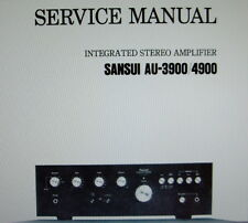 SANSUI AU-3900 AU-4900 INT STEREO AMP SERVICE MANUAL INC SCHEMS PRINTED ENGLISH
