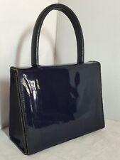 Vintage Original Navy Blue Leather Jane Shilton Hand Bag