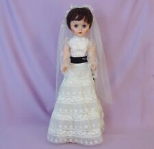 """BEAUTIFUL 24"""" FASHION TEEN BRIDE DOLL by DELUXE READING 1960s"""