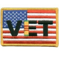 US FLAG VIETNAM VET USA MILITARY EMBROIDERED IRON ON BIKER PATCH