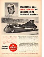 1965 ART ARFONS GREEN MONSTER @ BONNEVILLE  ~  ORIGINAL KENDALL OIL AD