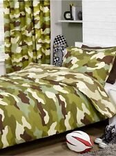 CAMOUFLAGE ARMY DUVET COVER & PILLOWCASE REVERSIBLE MILITARY DESIGN