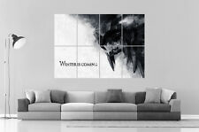 GAME OF THRONES WINTER IS COMING  Wall Art Poster Grand format A0 Large Print