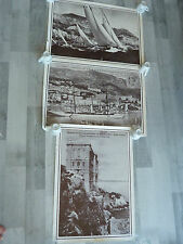 Lot 3 photos poster MONACO Monte Carlo Museum Albert 1er old pictures - RARELY