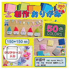 """Origami Paper Color Value Pack Japanese 50 Different Colors 6"""" 250 Sheets"""