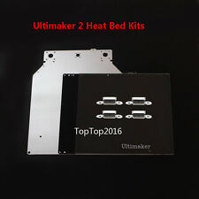 Glass plate + heated bed + Print base plate + bed clip for Ultimaker2 3D Printer