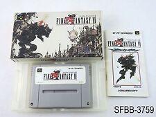Complete Final Fantasy 6 Super Famicom Japanese Import CIB Boxed SFC SNES VI B