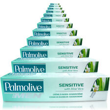 12x Palmolive Sensitive Shaving Lather Shave Cream 100ml With Palm Extract