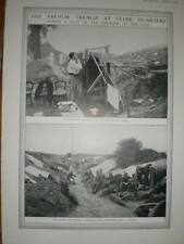 WW1 Photo French trench during a lull in artillery 1915