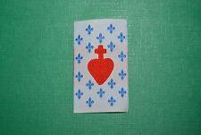 écusson insigne tissu religieux scoutisme Sacré Cœur de Jésus Fleur de Lys bleue