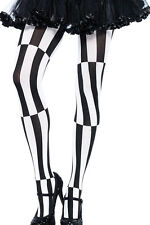 Women's Black & White Psychedelic Print Pantyhose Stockings