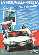 Publicité Advertising 1983  La nouvelle petite FORD FIESTA