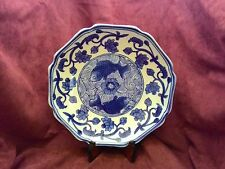 Antique Chinese 19Th Century Porcelain Plate Mark Qing Qianlong