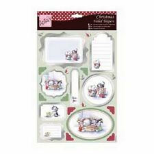 Anitas Christmas Foiled Toppers & Paper Pack - Pets at Christmas