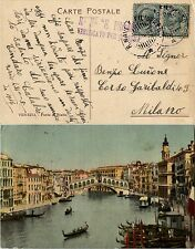 REGIA NAVE E. FILIBERTO 4.6.1905-Due 5c(81) su cartolina di Venezia per Milano