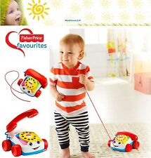 Fisher Price Chatter Telephone Pull Along Phone Baby Toy New