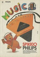 X2063 Spikkio PHILIPS stereo cassette player - Pubblicità 1986 - Advertising