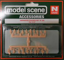 Modelscene N Accessories Unpainted Figures Set B 5157 Plastic Railway Figures
