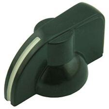 Puntatore Manopola potenziometro Nero Plastica Dura (confezione da 2)