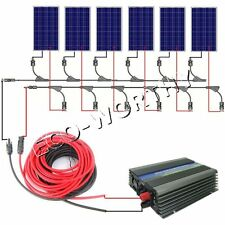 600W COMPLETE KIT: 6x 100W PV Solar cell Panel with 500W MPPT function inverter