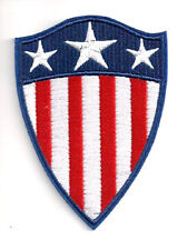"Captain America 1940s Classic Shield Embroidered 4"" Patch-FREE S&H(CAPA-04)"