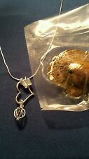 Butterfly heart  Pearl Pendant with Akoya Oyster and Chain