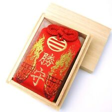 JAPANESE Shinto shrine lucky charm Omamori WIN VICTORY RED FROM JAPAN