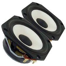 "Pair Vifa TG9FD-10-04 3"" Glass Fiber Cone Full Range Speaker 4ohms 84dB .75"" VC"
