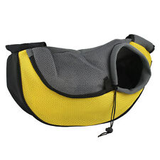 Pet Dog Cat Puppy Carrier Mesh Travel Tote Shoulder Bag Sling Backpack Yellow