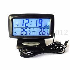 Multifunction LCD Display Digital Car Alarm Clock Dual Temperature Thermometer