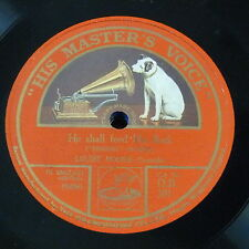"78rpm 12"" LOUISE HOMER he shall feed his flock / he was despised handel messiah"