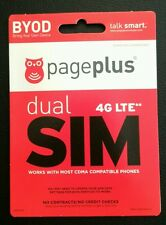 Page Plus 4G LTE MINI / Micro Sim Verizon 4G LTE Prepaid Preloaded Prefunded $55