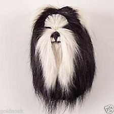 (1) SHIH TZU B/WHITE DOG MAGNET! Very realistic collectible fur refrig. Magnets.