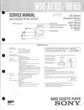 Sony Original Service Manual für WM- AF 65 / BF 65