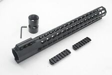 "USA 15"" Keymod Free Float Handguard Rail Mount System+Rail Sections .223/5.56"